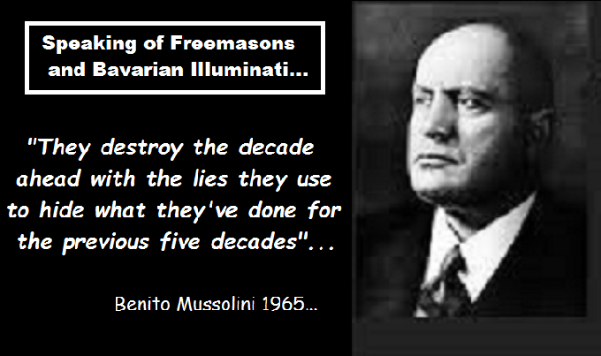 Mussolini destroying the decade ahead