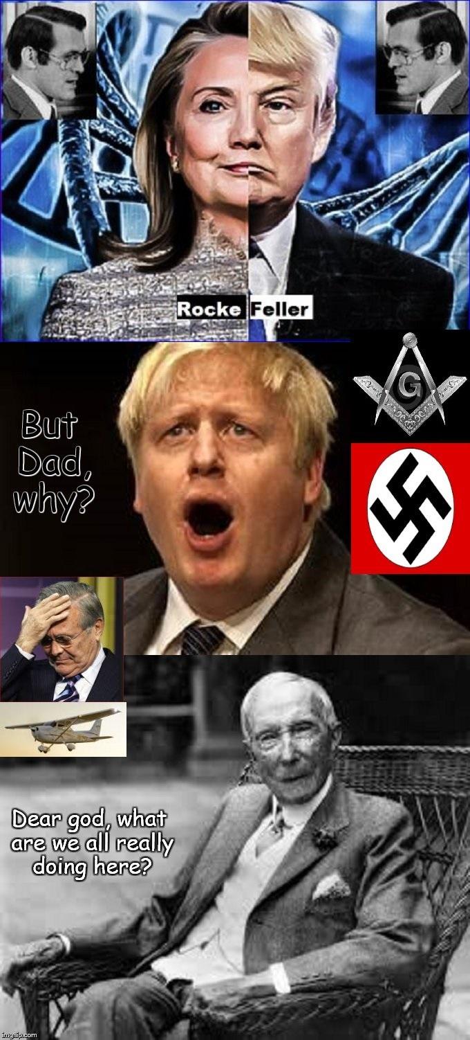 Rumsfeld Rockefeller Trump Clinton Boris