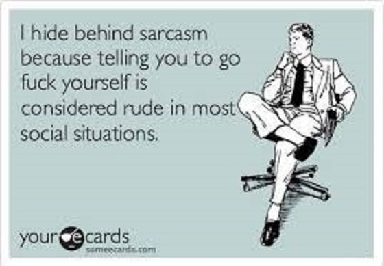 Sarcasm ~ Go fcuk yourself ~