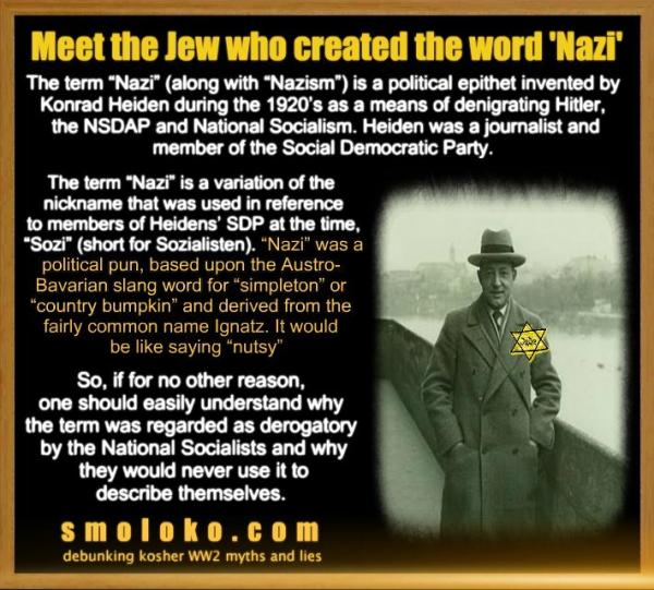 SUSS ~ The Jew who created the word Nazi