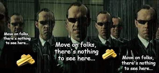 Agent Smith, move on folks GOLD
