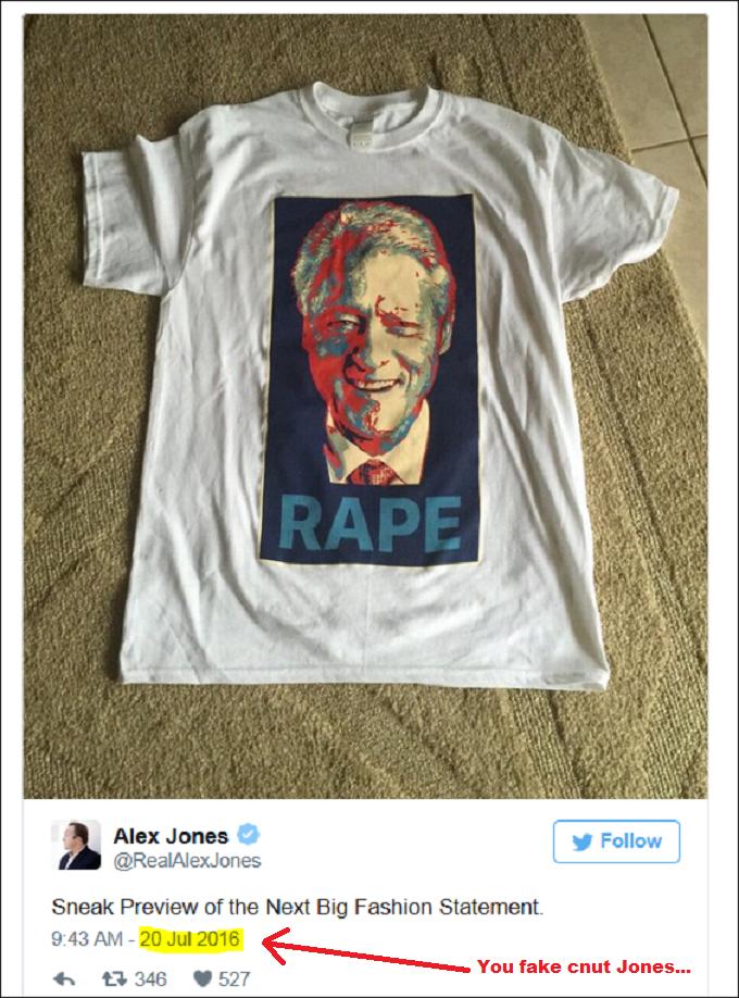 Alex Jones PP Fake Tweet