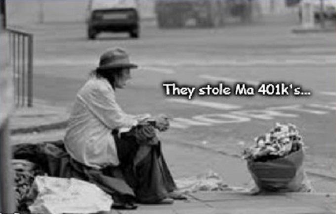 America destitute 401k's ~
