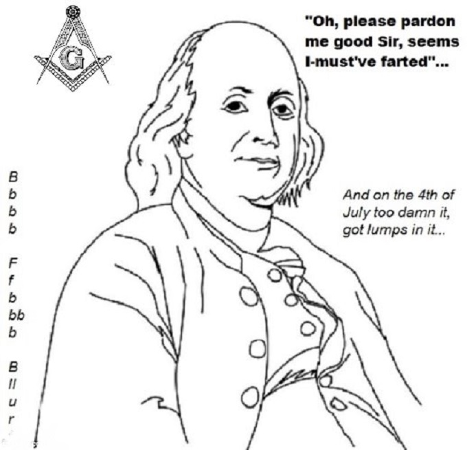 Ben Franklin Mason farted
