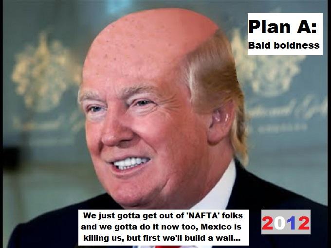 Drumpf Trump PLAN A Bald Boldness