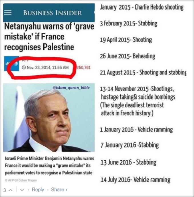 Netanyahu Fakery
