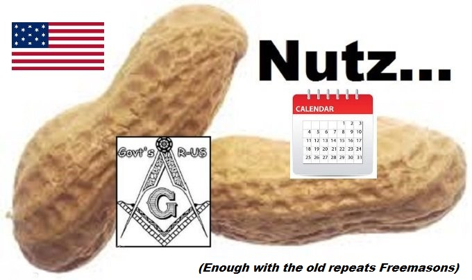 Nuts Nutz American Flag Calendar OLD REPEATS FREEMASON