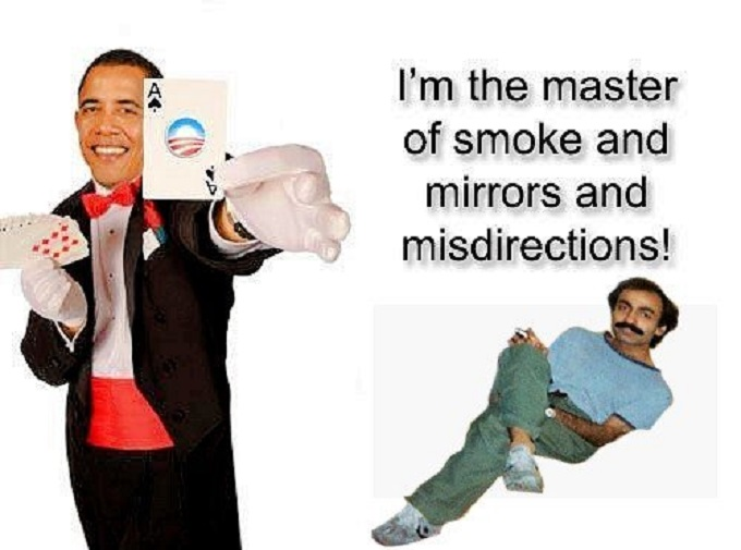 Obama card trick