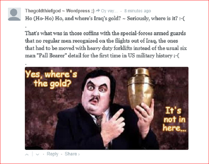 Paul Bearer Pall Bearer gold comment