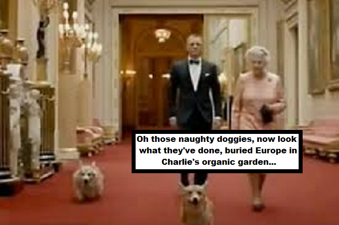 Queen's corgis buried Europe