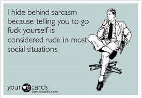 Sarcasm ~ Go fcuk yourself ~