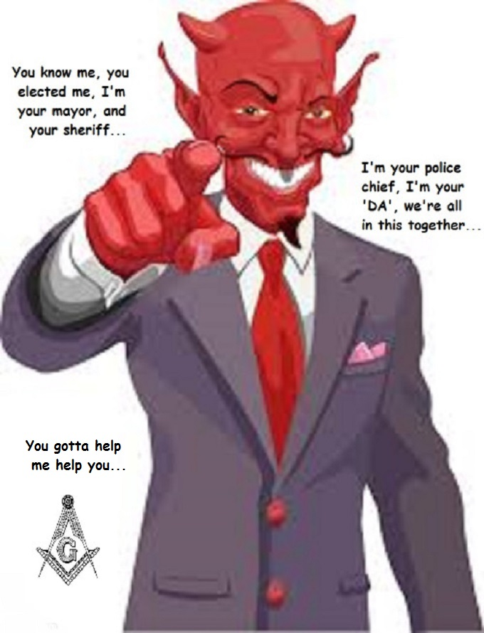 Satan ~ We're all in this together Mason Police Sheriff