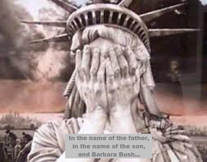 Shame father son and Barbara Bush
