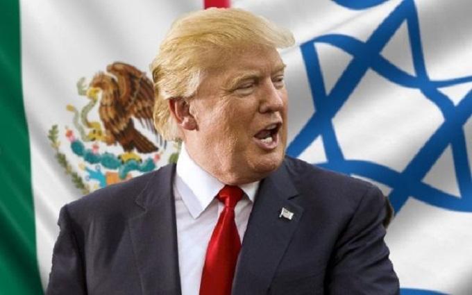 Trump Israeli Flag