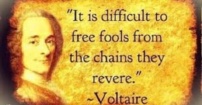 Voltaire free fools