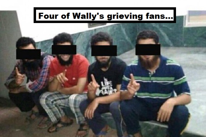 Wally's grieving fans